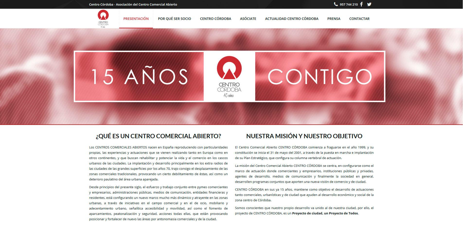 Presentación de la nueva web XV Aniversario